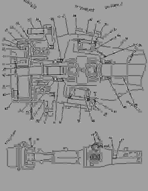 Parts scheme 1108631 AXLE GROUP-DRIVE & STEERING  -FRONT - BACKHOE LOADER Caterpillar 426C - 426C Backhoe Loader Center Pivot, Parallel Lift 1NR00001-00953 (MACHINE) POWERED BY 3054 Engine POWER TRAIN | 777parts