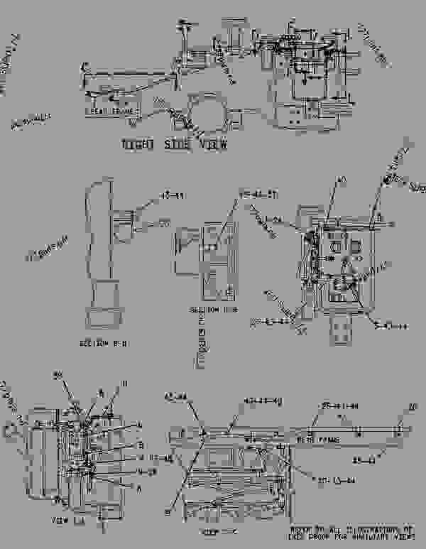 Parts scheme 1496176 WIRING GROUP-FRONT   - EARTHMOVING COMPACTOR Caterpillar 836G - 836G Landfill Compactor 3456 Engine 7MZ00001-UP (MACHINE) ELECTRICAL AND STARTING SYSTEM | 777parts