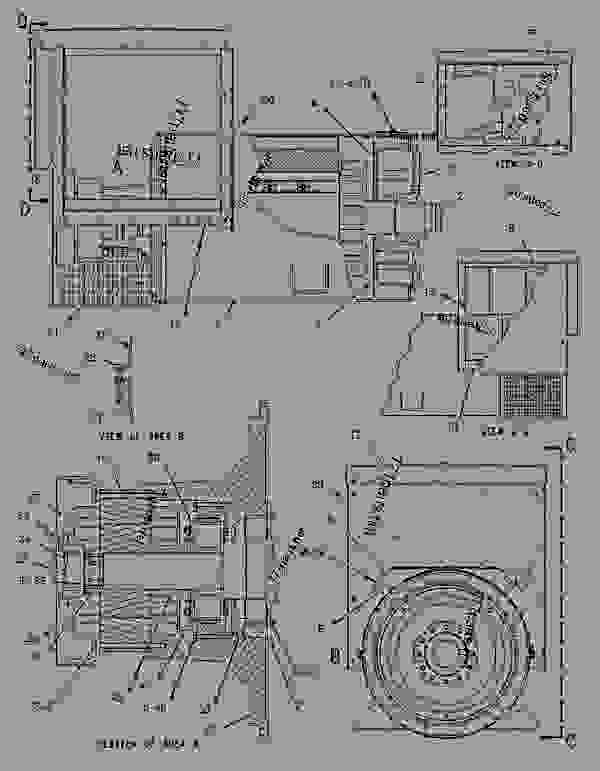 Parts scheme 1304723 GENERATOR GROUP   - ENGINE - GENERATOR SET Caterpillar 3306B - 3306B Generator Set B8D00001-UP GENERATORS | 777parts
