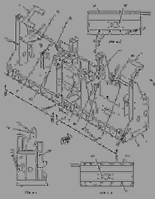 Parts scheme 2057178 FRAME GROUP-SCREED   - ASPHALT PAVER Caterpillar 10B - 10B PAVEMASTER Screed BKB00001-UP FRAME AND BODY | 777parts