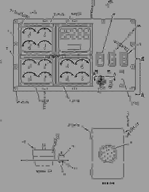 Parts scheme 1552554 PANEL GROUP-INSTRUMENT   - ENGINE - INDUSTRIAL Caterpillar 3508C - 3508C Locomotive Engine F1X00001-UP OPERATOR STATION | 777parts