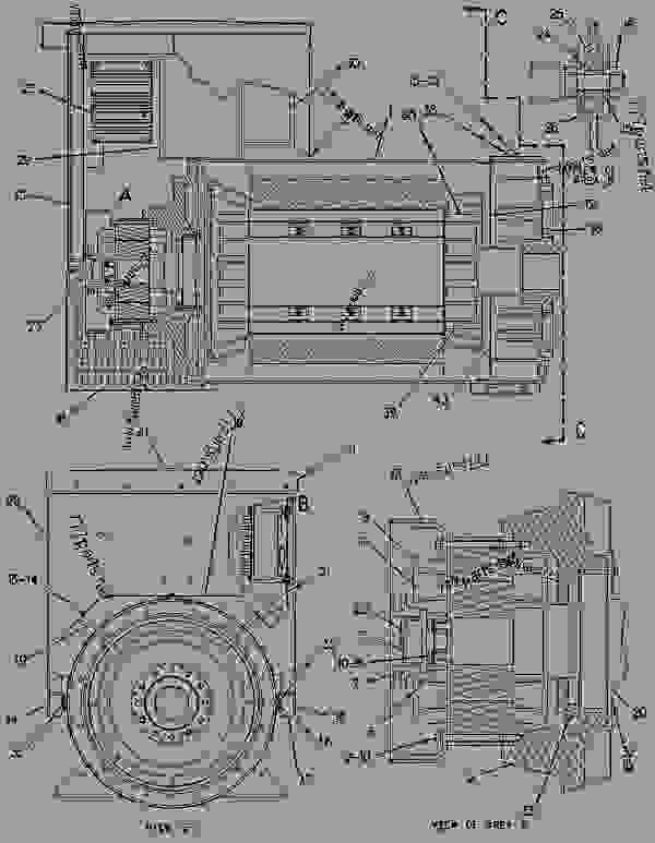 Parts scheme 4W9313 GOVERNOR AS-ELECTRONIC   - ENGINE - GENERATOR SET Caterpillar 3406B - 3406B Generator Set 4RG00001-01501 FUEL SYSTEM | 777parts