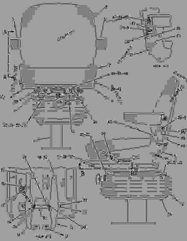 Parts scheme 1311881 SEAT BELT GROUP   - BACKHOE LOADER Caterpillar 416C - 416C Backhoe Loader Center Pivot, Parallel Lift 1WR00001-08115 (MACHINE) POWERED BY 3054 Engine OPERATOR STATION | 777parts