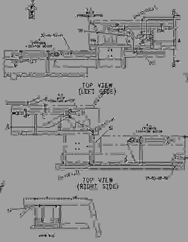 Parts scheme 8I0603 LINES GROUP-VIBRATORY   - ASPHALT PAVER Caterpillar 10 FT - 10-20B 10-20WB EXTEND-A-MAT Screed 3EL00001-UP HYDRAULIC SYSTEM | 777parts