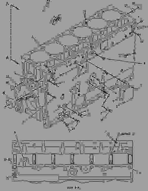 Parts scheme 1527642 CYLINDER BLOCK GROUP   - COLD PLANER Caterpillar PM-465 - PM-465 Cold Planer 5ZS00001-UP (MACHINE) POWERED BY 3406 Engine BASIC ENGINE | 777parts