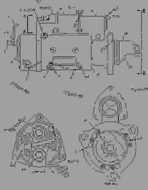 Parts scheme 2071561 STARTING MOTOR GROUP-ELECTRIC   - ENGINE - GENERATOR SET Caterpillar 3306B - 3306B Generator Set LRW00001-UP ELECTRICAL AND STARTING SYSTEM | 777parts