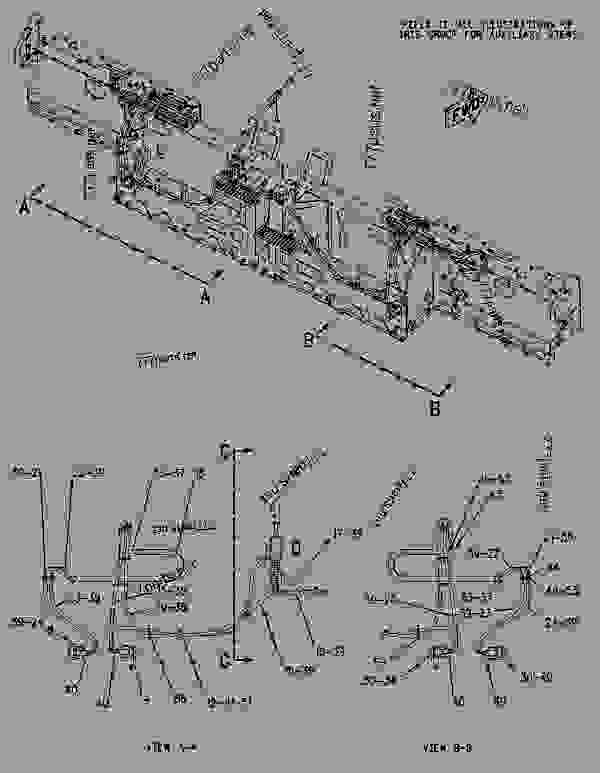 Parts scheme 1975290 LINES GROUP-VIBRATORY   - ASPHALT PAVER Caterpillar AS2301 - AS2301 Screed AKC00001-UP HYDRAULIC SYSTEM | 777parts