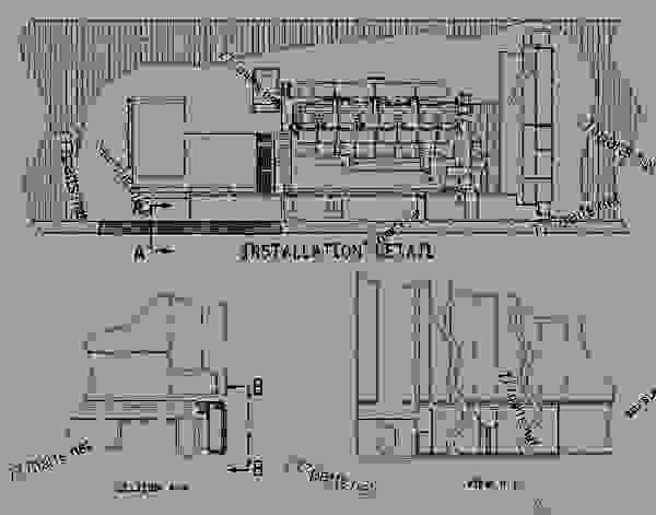 Parts scheme 1700024 LOUVER GROUP   - ENGINE - GENERATOR SET Caterpillar 3412 - 3412 Generator Set Engine 2WJ00001-UP ENCLOSURES, GUARDS AND BASES | 777parts