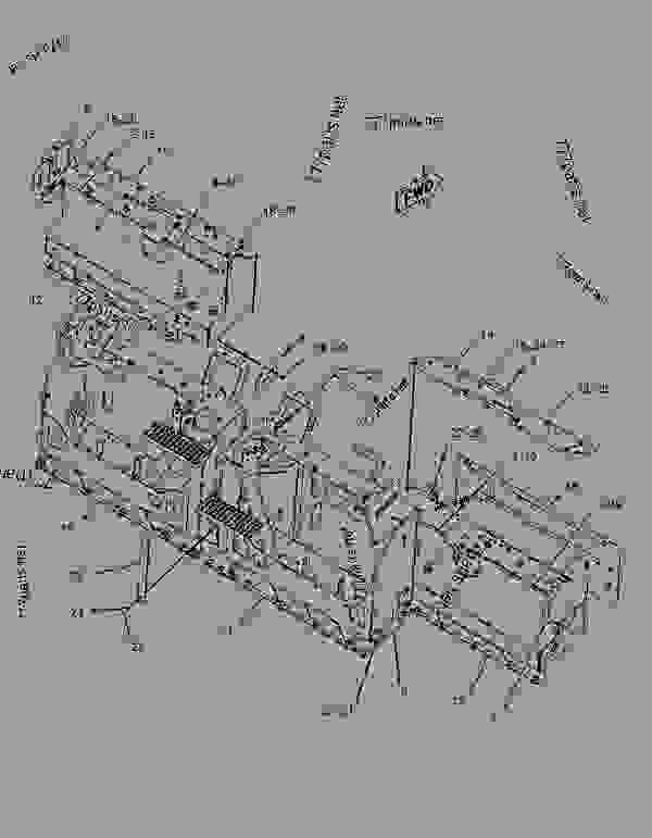 Parts scheme 2472709 PLATFORM GROUP-OPERATOR   - ASPHALT PAVER Caterpillar AS2251 - AS2251 SCREED CWF00001-UP OPERATOR STATION | 777parts