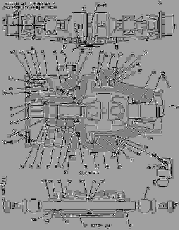 Parts scheme 1111523 AXLE GROUP-DRIVE & STEERING  -REAR - BACKHOE LOADER Caterpillar 426C - 426C Backhoe Loader Center Pivot, Single Tilt 1CR00001-00863 (MACHINE) POWERED BY 3054 Engine POWER TRAIN | 777parts