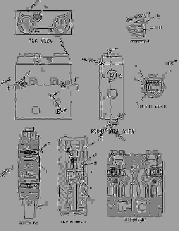 Parts scheme 1914483 VALVE GROUP-CONTROL  -SWING - BACKHOE LOADER Caterpillar 424D - 424D Backhoe Loader BGP00001-00647 (MACHINE) POWERED BY 3054 Engine HYDRAULIC SYSTEM | 777parts