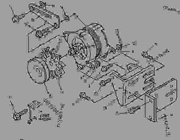 Parts scheme 1420344 ALTERNATOR GROUP-CHARGING   - ENGINE - GENERATOR SET Caterpillar 3054 - 3054 Generator Set Engine 2PW00001-UP ELECTRICAL AND STARTING SYSTEM | 777parts