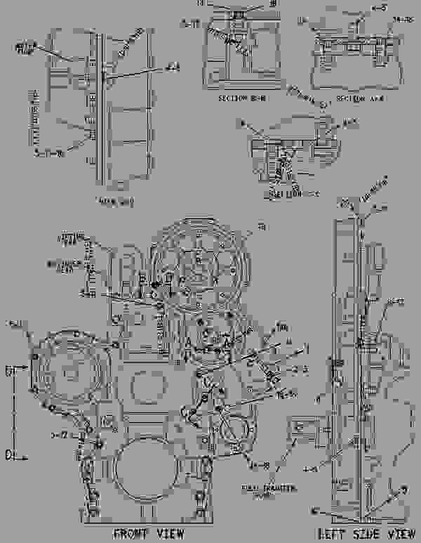 Parts scheme 2128137 HOUSING GROUP-FRONT   - CHALLENGER Caterpillar MT865 - C-12, C-15, C-16 Caterpillar Engines For AGCO Challenger BDS00001-UP (MACHINE) BASIC ENGINE | 777parts