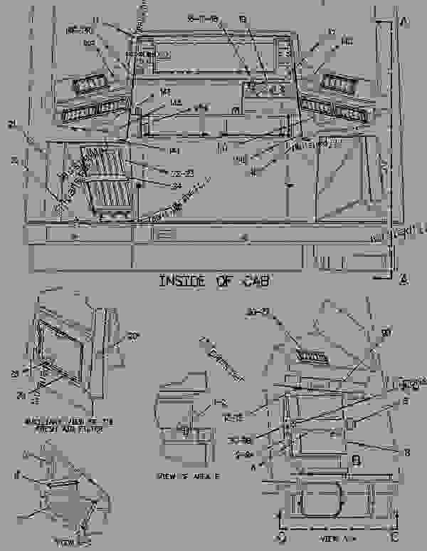 Parts scheme 9C8240 DUCT & CONTROL GROUP CONTROL AND DUCT GROUP - EARTHMOVING COMPACTOR Caterpillar 816F - 816F COMPACTOR 5FN00001-UP (MACHINE) OPERATOR STATION | 777parts
