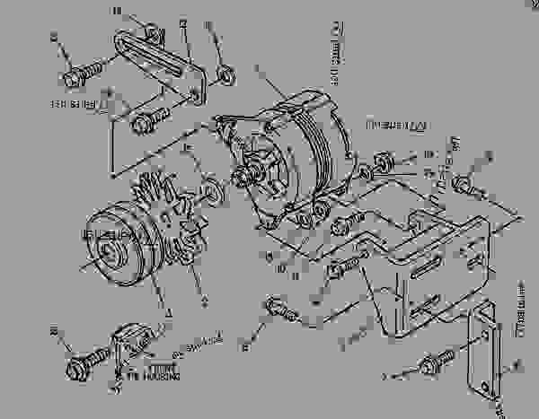 Parts scheme 1392617 ALTERNATOR GROUP-CHARGING   - ASPHALT PAVER Caterpillar AP-650B - CATERPILLAR AP-650B, BARBER-GREENE BG-225C Asphalt Pavers 9DN00001-UP (MACHINE) POWERED BY 3054 Engine ELECTRICAL AND STARTING SYSTEM | 777parts