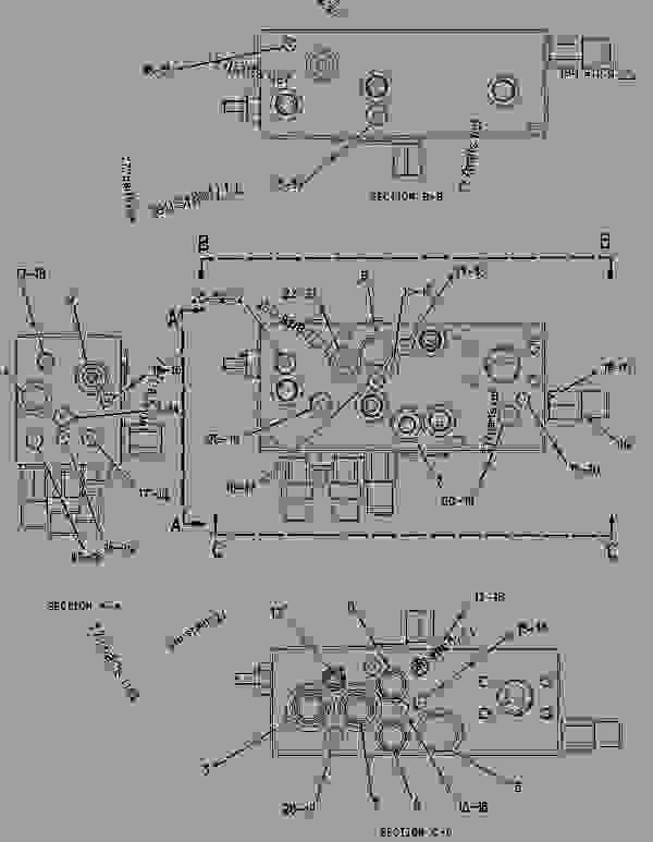 Parts scheme 2070034 VALVE GROUP-MAIN CONTROL   - ARTICULATED DUMP TRUCK Caterpillar 740 - 740 Ejector Articulated Truck AZZ00001-UP (MACHINE) POWERED BY 3406E Engine HYDRAULIC SYSTEM | 777parts