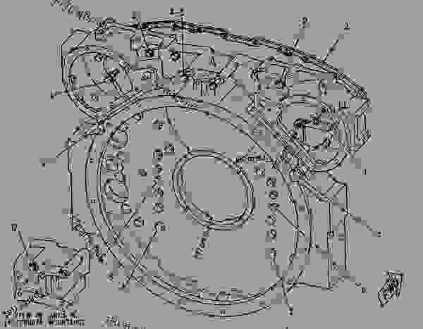 Parts scheme 1010836 HOUSING GROUP-FLYWHEEL  -REAR MOUNT - ENGINE - GENERATOR SET Caterpillar 3508B - 3508B Generator Set CNB00001-UP BASIC ENGINE | 777parts