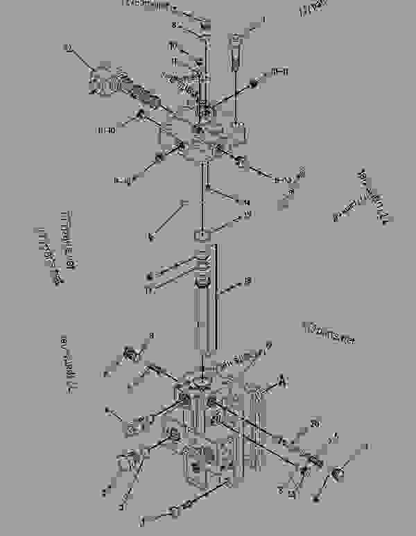 Parts scheme 1839355 MOTOR GROUP-PISTON   - ASPHALT PAVER Caterpillar AP-900B - Caterpillar AP-900B Barber Greene BG-240C Asphalt Pavers AGJ00001-UP (MACHINE) POWERED BY 3116 Engine HYDRAULIC SYSTEM | 777parts