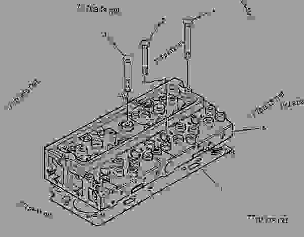 Parts scheme 2120923 CYLINDER HEAD GROUP   - INTEGRATED TOOLCARRIER Caterpillar IT14G - IT14G Integrated Toolcarrier 1WN00001-00659 (MACHINE) POWERED BY 3054 Engine BASIC ENGINE | 777parts