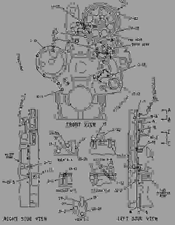 Parts scheme 1712876 HOUSING GROUP-FRONT   - ENGINE - GENERATOR SET Caterpillar 3456 - 3456 DPGDS Generator Set-Military 9BZ00001-UP BASIC ENGINE | 777parts