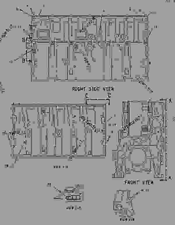 Parts scheme 1550740 CYLINDER BLOCK GROUP   - CHALLENGER Caterpillar MTC835 - C-12, C-15, C-16 Caterpillar Engines For AGCO Challenger 81600001-UP (MACHINE) BASIC ENGINE | 777parts