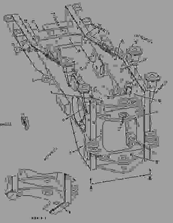 Parts scheme 2194839 FRAME AS-REAR  -CUSTOM - EARTHMOVING COMPACTOR Caterpillar 836G - Custom Product Support Literature for the 834G Series II Wheel Type Tractor and 836G Series II Landfill Compactor BRL00001-UP (MACHINE) FRAME AND BODY | 777parts
