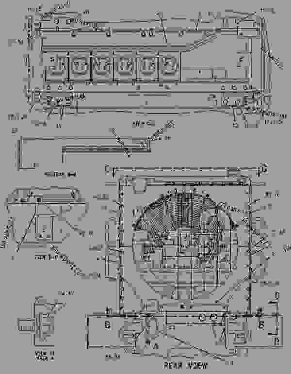 Parts scheme 1896426 RADIATOR GROUP   - EARTHMOVING COMPACTOR Caterpillar 816F - 816F Landfill Compactor BMR00001-UP (MACHINE) POWERED BY 3176C Engine COOLING SYSTEM | 777parts