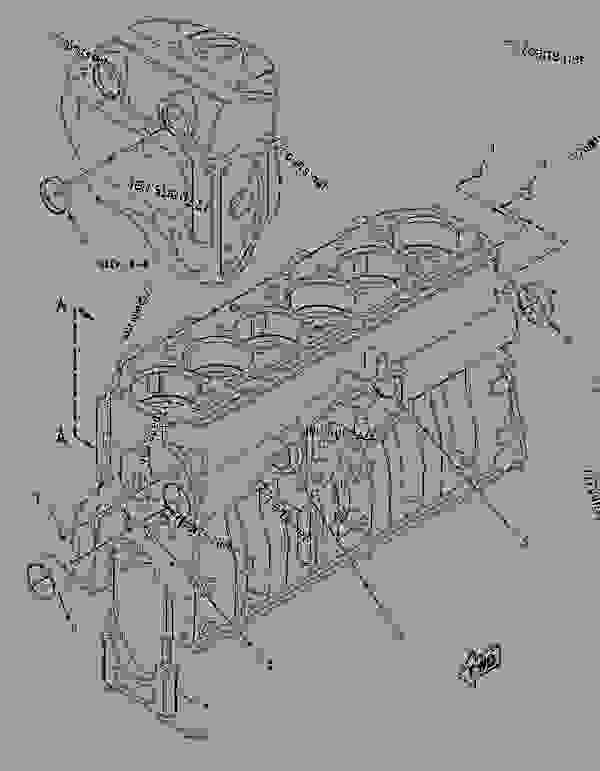 Parts scheme 2213248 CYLINDER BLOCK AS   - CHALLENGER Caterpillar MTC765 - C-9 Caterpillar Engine for AGCO Challenger 81500001-UP (MACHINE) BASIC ENGINE | 777parts