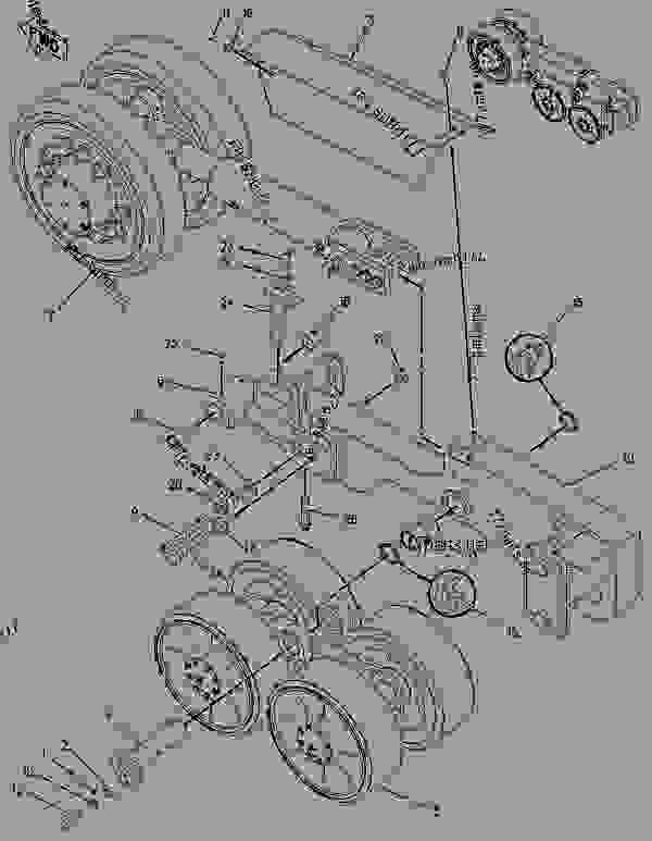 Parts scheme 1873170 FRAME GROUP-TRACK ROLLER  -LH FRONT - ASPHALT PAVER Caterpillar AP-655C - AP-655C.BG-2255C Asphalt Paver CDG00001-UP (MACHINE) POWERED BY 3056 Engine UNDERCARRIAGE | 777parts
