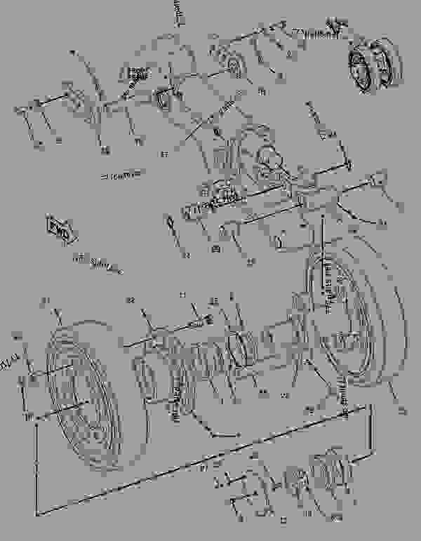 Parts scheme 1932438 ROLLER GROUP-TRACK   - ASPHALT PAVER Caterpillar AP-655C - AP-655C Asphalt Paver AYP00001-UP (MACHINE) POWERED BY 3056 Engine UNDERCARRIAGE | 777parts