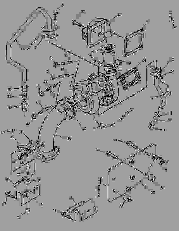 Parts scheme 1278788 TURBOCHARGER GROUP   - ENGINE - GENERATOR SET Caterpillar 3056 - 3056 Generator Set Engine 7AK00001-UP AIR INLET AND EXHAUST SYSTEM | 777parts