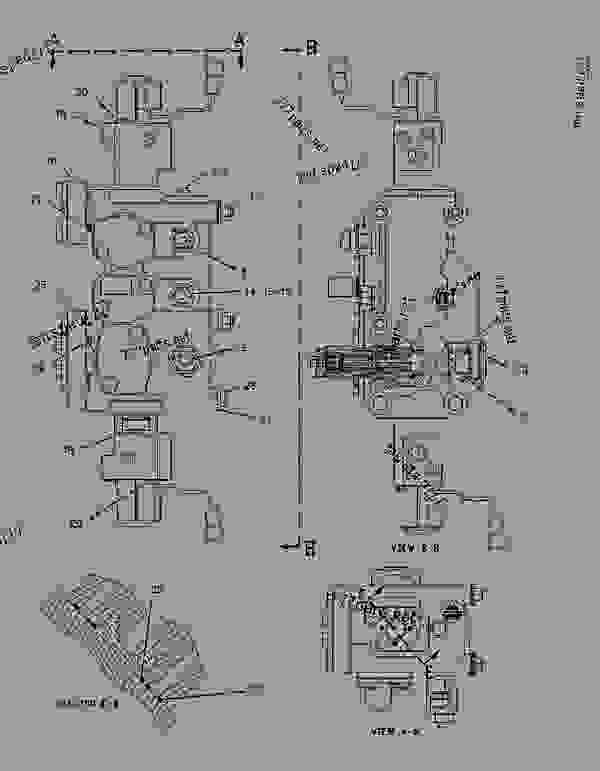 Parts scheme 1338810 VALVE GROUP-COUNTERBALANCE  -TAILGATE - ARTICULATED DUMP TRUCK Caterpillar D400E II - D400E Series II Articulated Truck 8PS00001-UP (MACHINE) POWERED BY 3406E Engine HYDRAULIC SYSTEM | 777parts