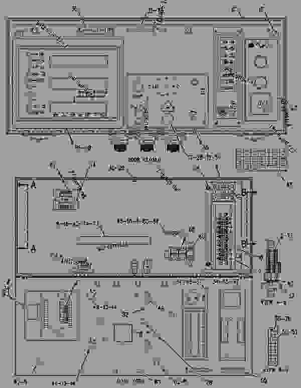 Parts scheme 1876307 PANEL GROUP-CONTROL   - ENGINE - GENERATOR SET Caterpillar 3508B - 3508B Generator Set CNB00001-UP OPERATOR STATION | 777parts