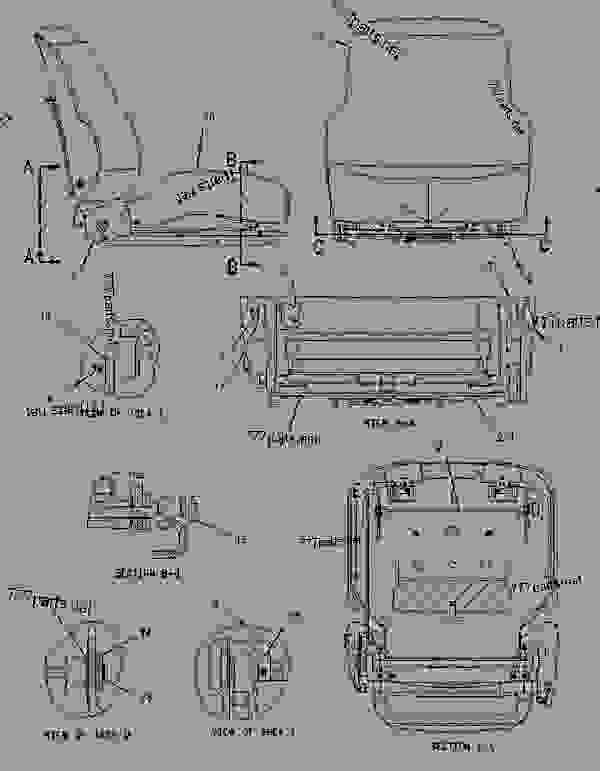 Parts scheme 2188514 SEAT GROUP  -GRAY CLOTH - ARTICULATED DUMP TRUCK Caterpillar 735 - 735 Articulated Truck AWR00001-UP (MACHINE) POWERED BY 3406E Engine OPERATOR STATION | 777parts