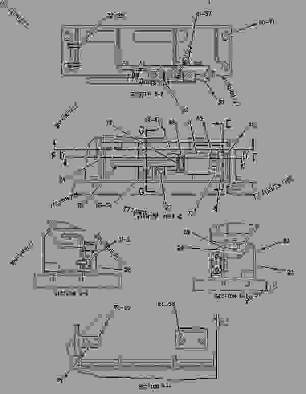 Parts scheme 1679618 LADDER GROUP-SWINGOUT   - EARTHMOVING COMPACTOR Caterpillar 836G - 836G Landfill Compactor 3456 Engine 7MZ00001-UP (MACHINE) FRAME AND BODY | 777parts