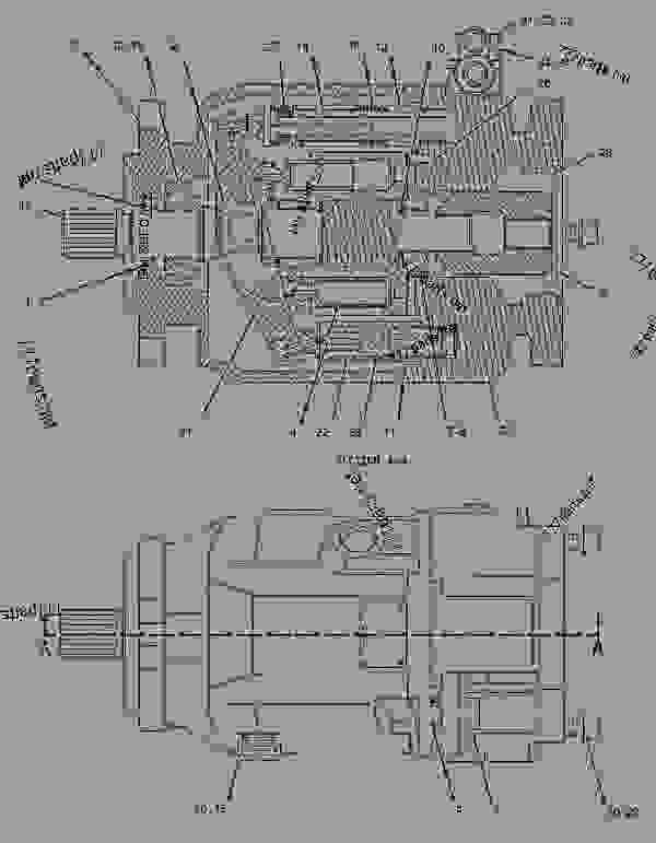 Parts scheme 1916005 PUMP & MTG GROUP-HYDRAULIC  -ATAAC FAN - ARTICULATED DUMP TRUCK Caterpillar 735 - 735 Articulated Truck B1N00001-UP (MACHINE) POWERED BY C15 Engine HYDRAULIC SYSTEM | 777parts