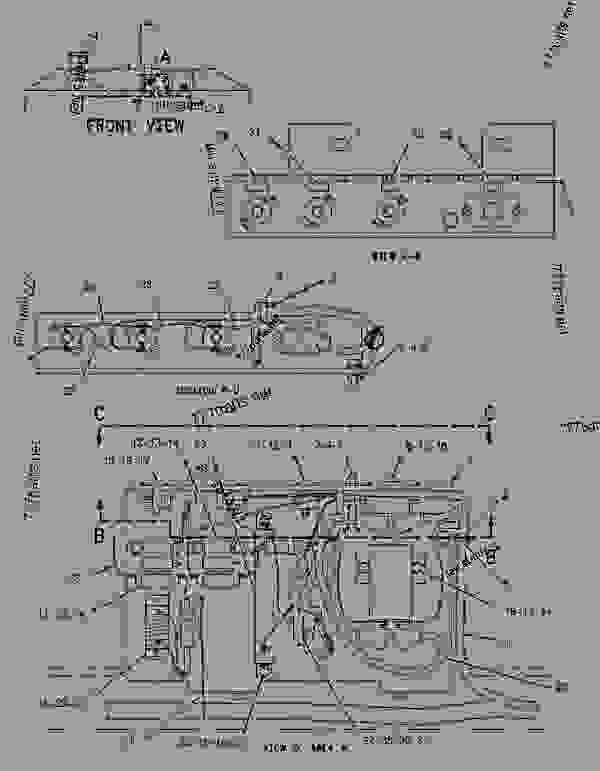 Parts scheme 1876533 WIRING GROUP-ENGINE   - ASPHALT PAVER Caterpillar AP-650B - CATERPILLAR AP-650B, BARBER-GREENE BG-225C Asphalt Pavers 9DN00001-UP (MACHINE) POWERED BY 3054 Engine ELECTRICAL AND STARTING SYSTEM | 777parts