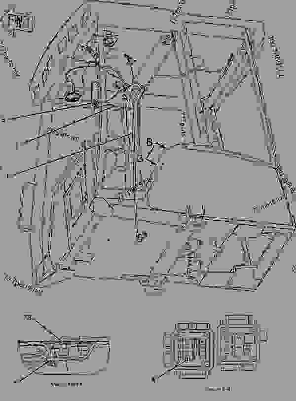 Parts scheme 1941950 WIRING GROUP-CAB   - BACKHOE LOADER Caterpillar 424D - 424D Backhoe Loader CJZ00001-UP (MACHINE) POWERED BY 3054C Engine ELECTRICAL AND STARTING SYSTEM | 777parts