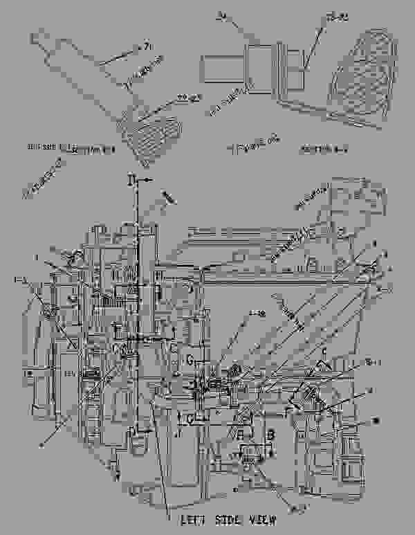 1611503 wiring group-engine - track-type tractor caterpillar d8r ii