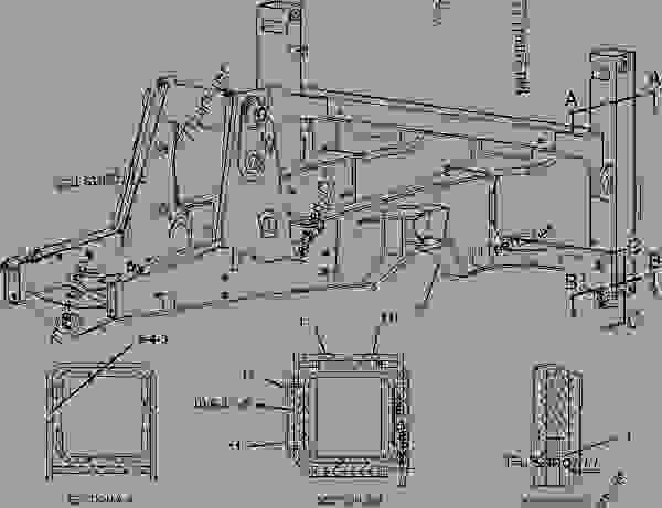 Parts scheme 1953899 FENDER GROUP-REAR   - BACKHOE LOADER Caterpillar 438D - 438D Backhoe Loader BPE00001-00663 (MACHINE) POWERED BY 3054 Engine FRAME AND BODY | 777parts