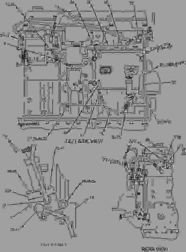 Parts scheme 2047454 LINES GROUP-FUEL  - CHALLENGER Caterpillar MT735 - C-9 Caterpillar Engine for AGCO Challenger AKN00001-UP (MACHINE) FUEL SYSTEM | 777parts