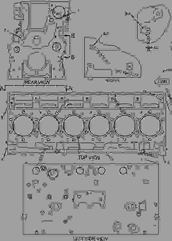 Parts scheme 2407271 CYLINDER BLOCK GROUP   - ARTICULATED DUMP TRUCK Caterpillar 730 - 730 OEM Articulated Truck WWB00001-UP (MACHINE) POWERED BY C11 Engine BASIC ENGINE | 777parts