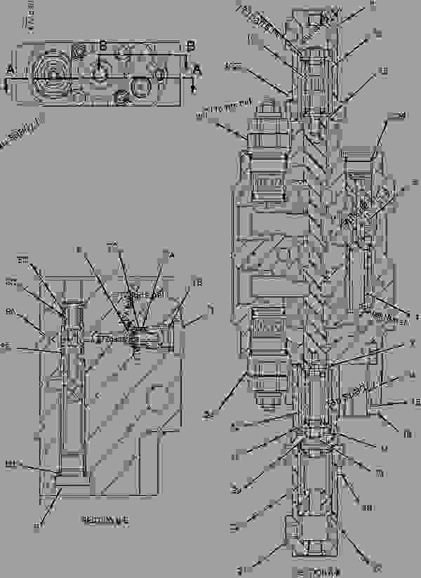 Parts scheme 1946757 VALVE GROUP-CONTROL  -LIFT - BACKHOE LOADER Caterpillar 432D - 432D Backhoe Loader BLD00001-01594 (MACHINE) POWERED BY 3054 Engine HYDRAULIC SYSTEM | 777parts