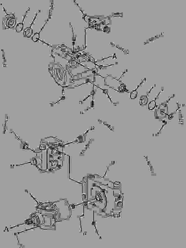 Parts scheme 1872900 PUMP GROUP-PISTON  -PROPEL, HYDRAULIC - PAVING COMPACTOR Caterpillar CB-434D - CB-434D CB-434DXW Vibratory Compactor CNH00001-UP (MACHINE) POWERED BY 3054C Engine HYDRAULIC SYSTEM | 777parts