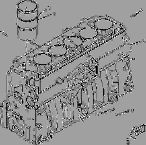 Parts scheme 3253915 CYLINDER BLOCK AS   - EARTHMOVING COMPACTOR Caterpillar 815F II - 815F Series 2 Soil Compactor BYN00001-UP (MACHINE) POWERED BY C9 Engine BASIC ENGINE | 777parts