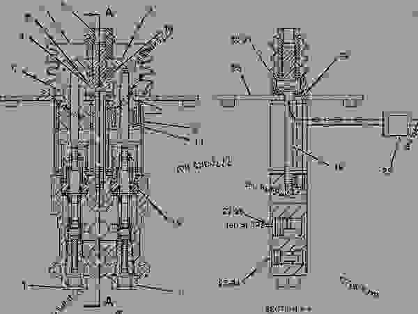 Parts scheme 1221748 VALVE GROUP-PILOT  -LIFT - EARTHMOVING COMPACTOR Caterpillar 816F - 816F COMPACTOR 5FN00001-UP (MACHINE) HYDRAULIC SYSTEM | 777parts