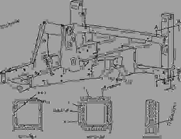 Parts scheme 1850080 FLOORPLATE GROUP   - BACKHOE LOADER Caterpillar 424D - 424D Backhoe Loader CJZ00001-UP (MACHINE) POWERED BY 3054C Engine FRAME AND BODY | 777parts