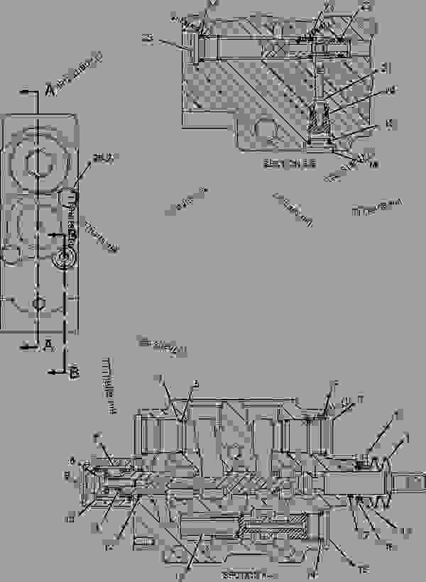 Parts scheme 2433160 VALVE GROUP-CONTROL  -AUXILIARY - BACKHOE LOADER Caterpillar 446D - 446D Backhoe Loader DBL00001-UP (MACHINE) POWERED BY 3114 Engine HYDRAULIC SYSTEM | 777parts