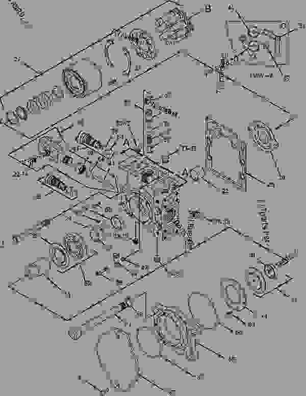 Parts scheme 1274589 PUMP GROUP-PISTON   - CHALLENGER Caterpillar 75D - Challenger 75D Agricultural Tractor 5AR00001-UP (MACHINE) POWERED BY 3176C Engine HYDRAULIC SYSTEM | 777parts