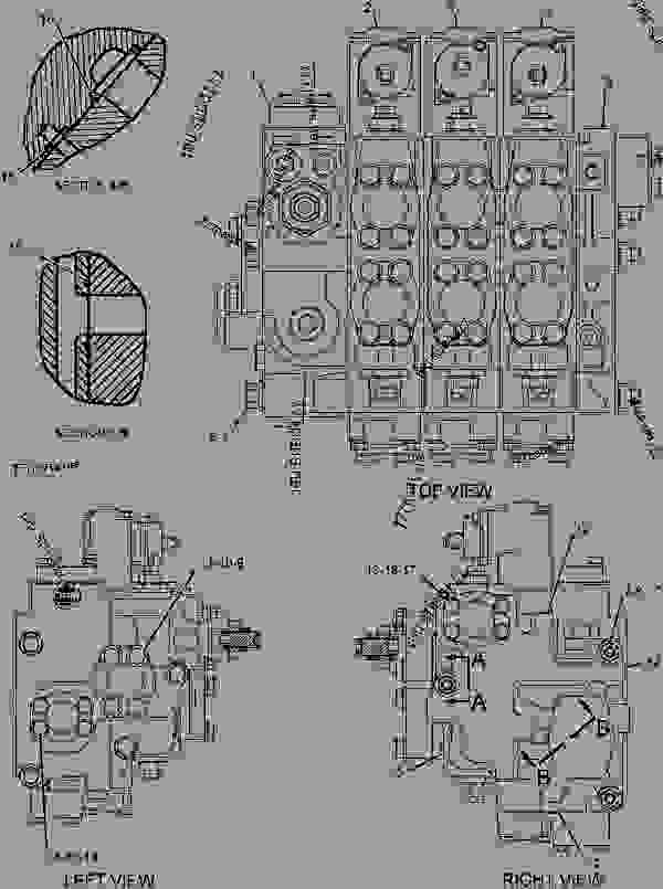 Parts scheme 2406800 VALVE GROUP-BANK 3   - BACKHOE LOADER Caterpillar 446D - 446D Backhoe Loader DBL00001-UP (MACHINE) POWERED BY 3114 Engine HYDRAULIC SYSTEM | 777parts